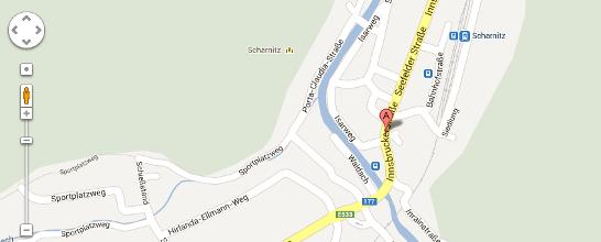 Abbildung eines Teils der Karte von Scharnitz